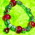 Genuine Murano Glass and Swarvoski Crystal Charm Bracelet Swarovski Image 5