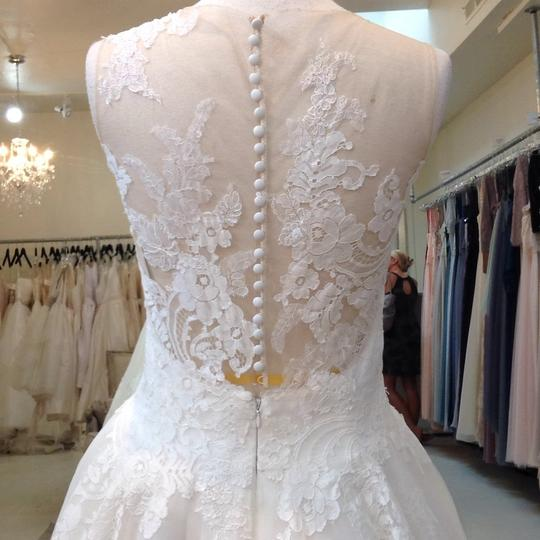 Venus Bridal Ivory/Nude Lace/Tulle At4669xn Traditional Wedding Dress Size 10 (M) Image 5