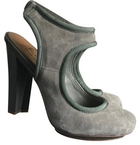 Badgley Mischka Green Suede Platforms