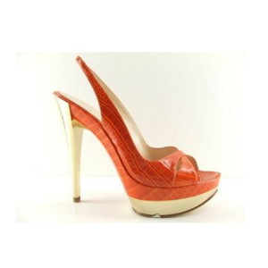 Casadei Made In Italy Sizes 5 5.5 Orange Pumps