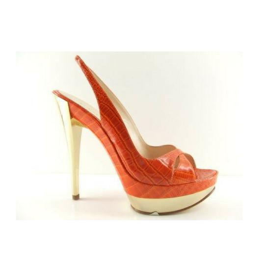 Casadei Made In Italy Sizes 5 5.5 Orange Pumps Image 0