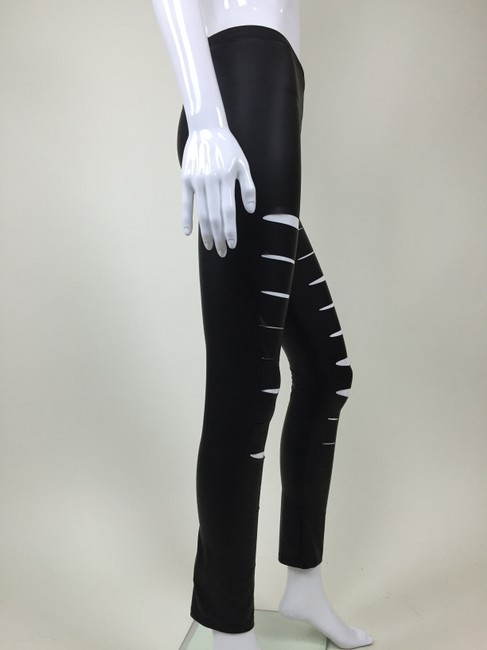 Peces Faux Leather Slashed Pants black Leggings Image 3