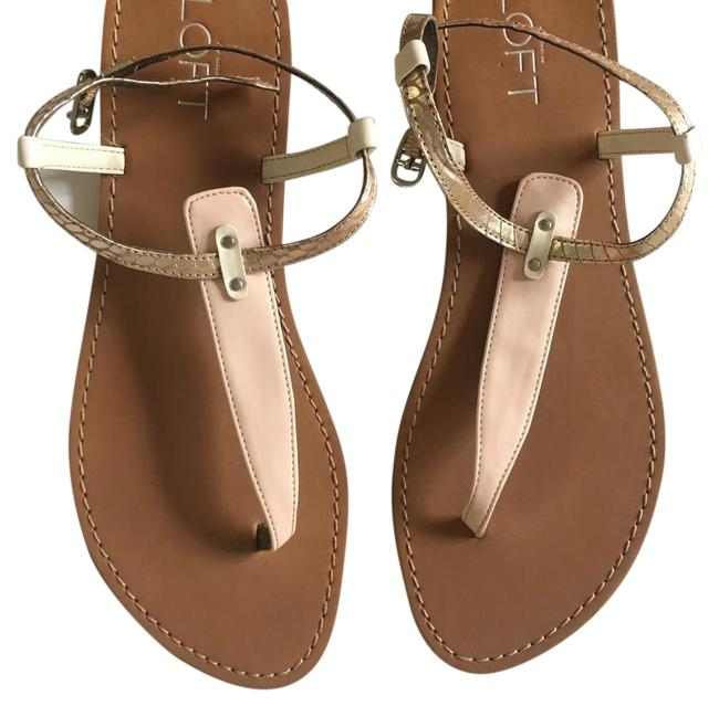 Item - Pink And Brown Leather with Silver Buckle Sandals Size US 7 Regular (M, B)