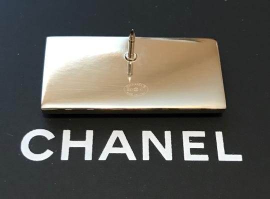 Chanel Chanel Cuba Cruise 2017 Gold Metal Black Plate COCO555 Brooch Pin Image 2