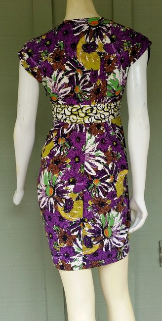 Ali Ro short dress Multi-colored Mini Stretch Floral Jersey on Tradesy