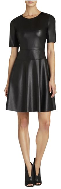 BCBGMAXAZRIA short dress black A-line Faux Leather Bcbg on Tradesy Image 0