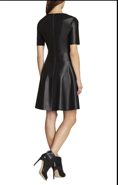 BCBGMAXAZRIA short dress black A-line Faux Leather Bcbg on Tradesy Image 1