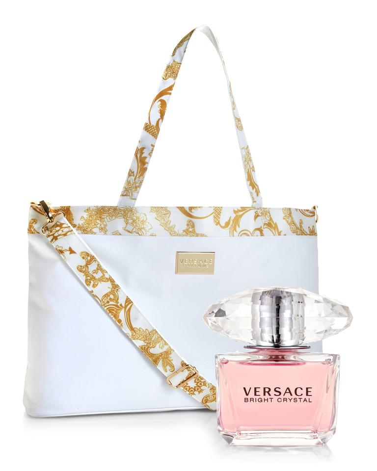 3a8962809854 Versace Women Travel Gift Set Baroque Print Gianni Print Tote in White  Image 0 ...