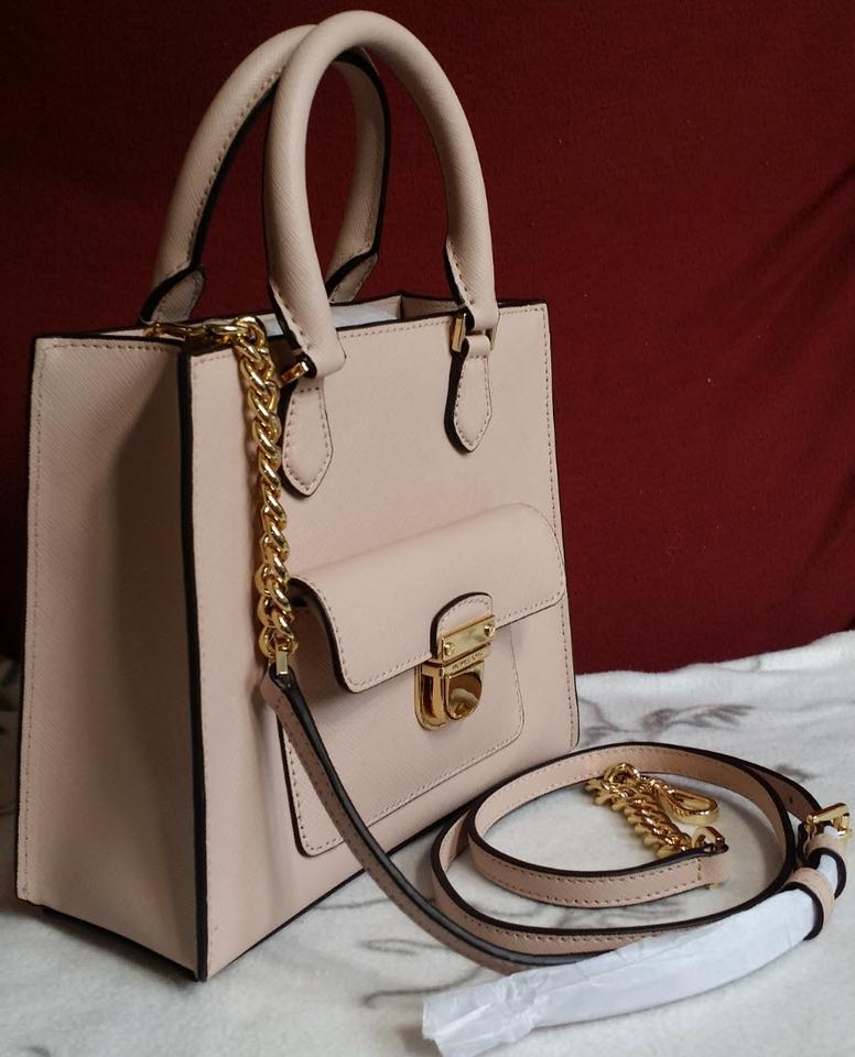 e37e2731f73b Michael Kors Leather Satchel Dusty Rose 35f7gbdt1l Tote in ballet Pink gold  Image 11. 123456789101112