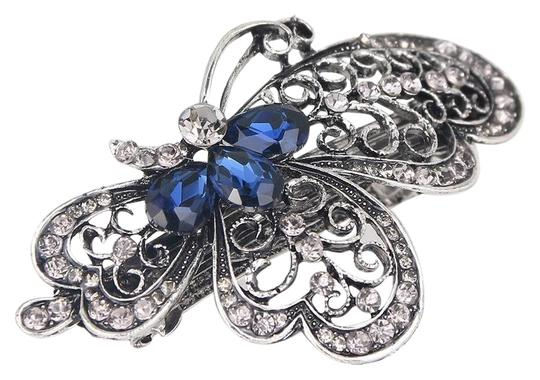 Preload https://img-static.tradesy.com/item/22081174/black-and-blue-stone-ladies-gunmetal-butterfly-barette-2-pcs-hair-accessory-0-2-540-540.jpg