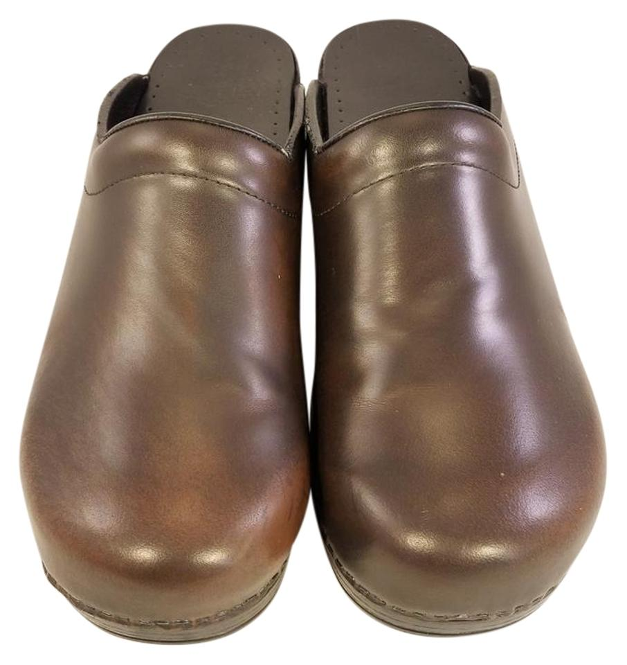 WOMENS Mules/Slides Dansko Brown Stapled Nurse Mules/Slides WOMENS Economical and practical 62c995