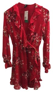 Divided by H&M short dress Red Floral on Tradesy