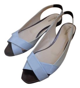 Pollini gray/ivory Sandals