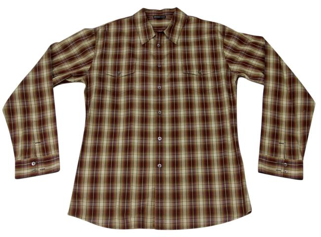 Preload https://img-static.tradesy.com/item/22081498/james-perse-brown-los-angeles-button-up-down-checkered-design-4-xl-button-down-top-size-18-xl-plus-0-0-1-650-650.jpg