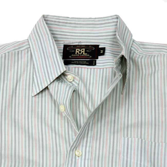 Ralph Lauren Givenchy Valentino Gucci Versace Monogram Button Down Shirt Blue