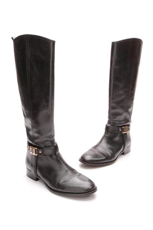 Tory Black Burch Black Tory Leather Zip Riding Boots/Booties a61108
