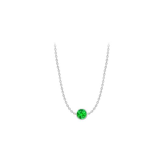 Preload https://img-static.tradesy.com/item/22081694/green-white-diamond-by-the-yard-frosted-emerald-14k-gold-necklace-0-0-540-540.jpg