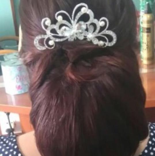 Queen Esther Etc Rhinestone & Pearl Bridal Comb For Women