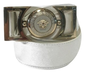 Versace NEW Versace Belt White Leather