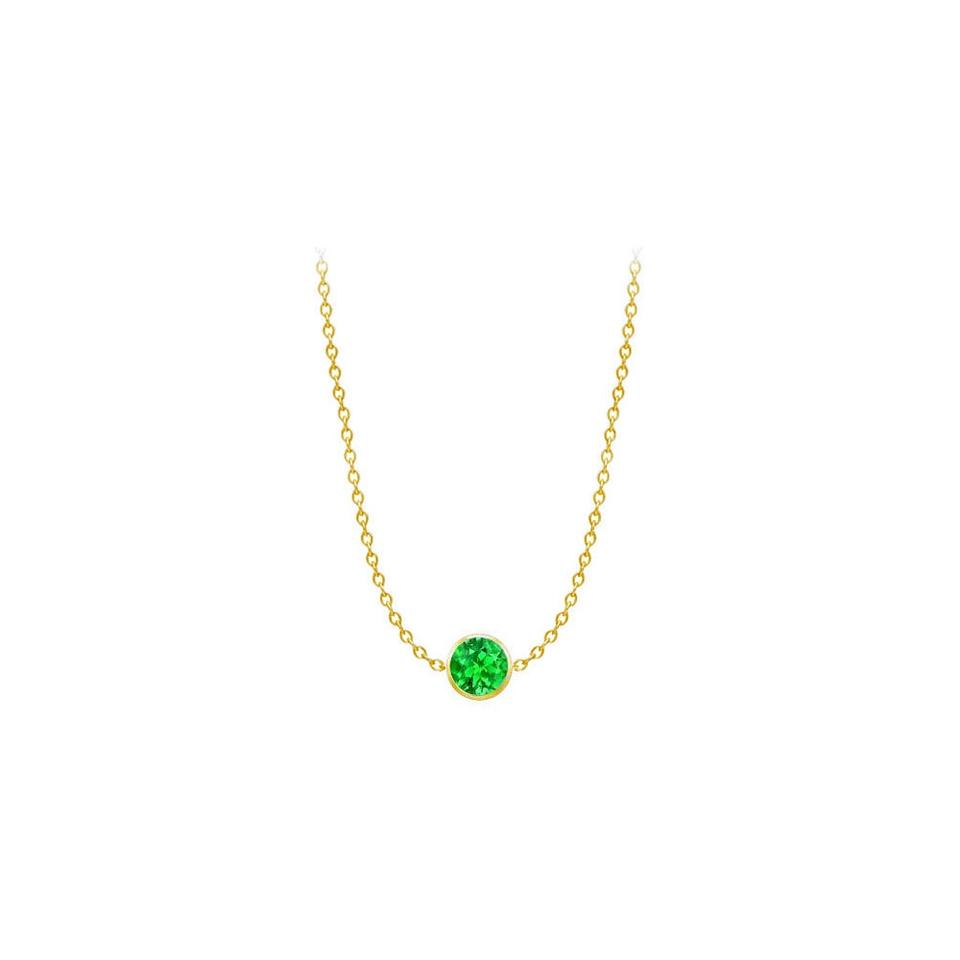 products logan crown jewelry wg emerald hollowell necklace pendant cut bezel