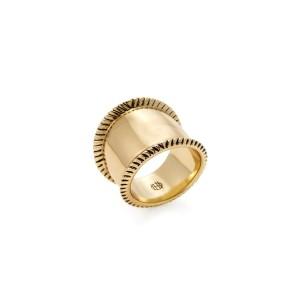 House of Harlow 1960 Nicole Richie Womens Tambo River Gold Cigar Band Ring 6