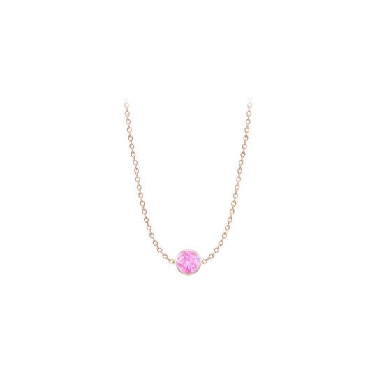 Preload https://img-static.tradesy.com/item/22081927/pink-rose-pink-gold-diamond-by-the-yard-created-sapphire-14k-necklace-0-0-540-540.jpg