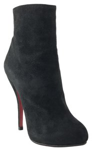 Christian Louboutin Ankle Thigh High Heel Black Boots