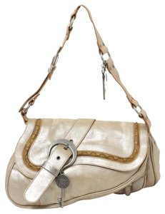 Dior Saddle Gaucho Leather Medalions Shoulder Bag