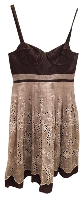 Preload https://img-static.tradesy.com/item/22082278/tocca-brown-mid-length-short-casual-dress-size-4-s-0-1-650-650.jpg