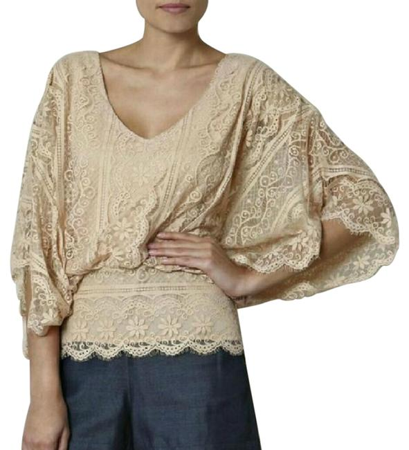Preload https://img-static.tradesy.com/item/22082369/beyond-vintage-nude-batwing-lace-blouse-size-4-s-0-1-650-650.jpg