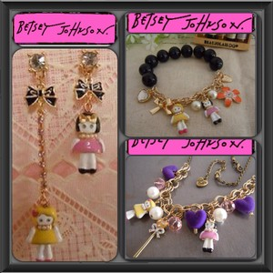 Betsey Johnson Doll House Collection 3-Piece Necklace, Bracelet & Earrings Set