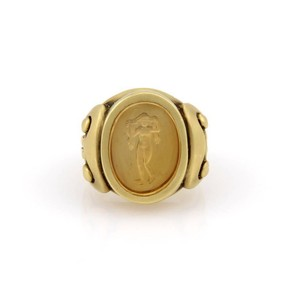 Kieselstein-Cord Kieselstein Cord 18K Yellow Gold Heavy Ring with Nude Carving