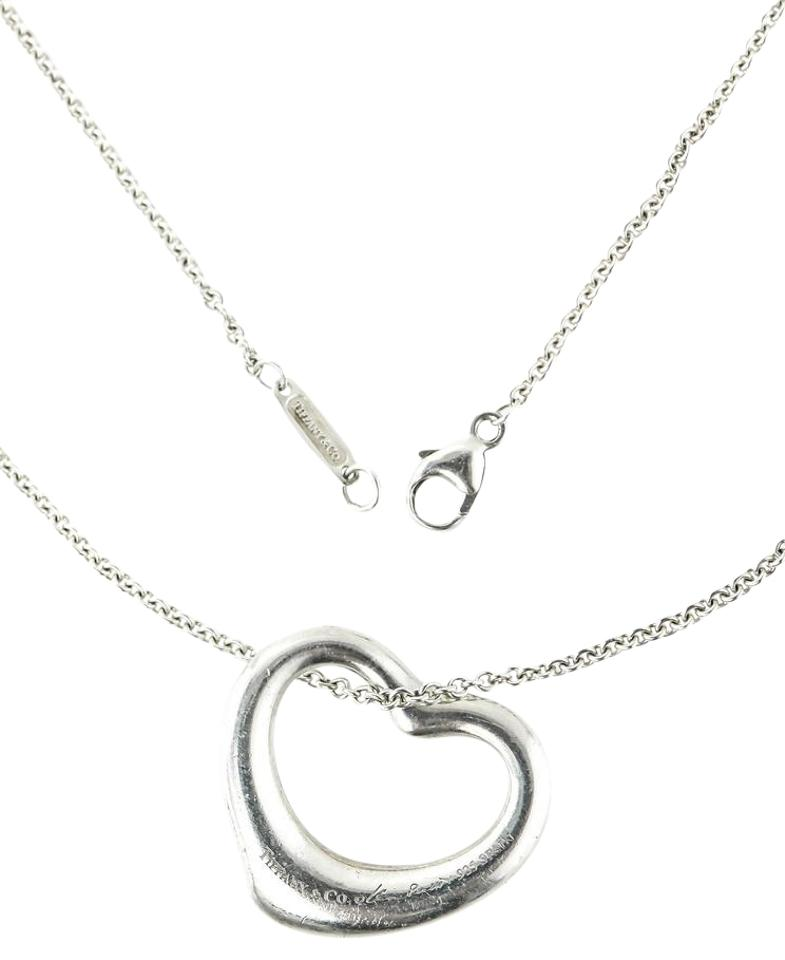 Tiffany co sterling silver elsa peretti spain open heart tiffany co tiffany co elsa peretti spain open heart silver pendant necklace aloadofball