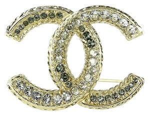 Chanel * Chanel CC Enamel and Crystals Accessory Pin Brooch