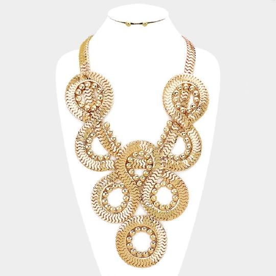Other Twisted Chain Necklace and Stud Earring Set