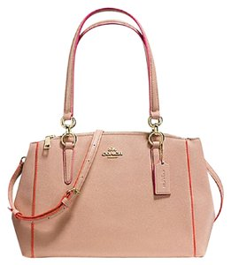 COACH New With Tags Satchel in LIGHT GOLD/NUDE PINK MULTI