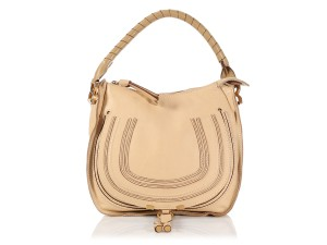 Chloé Leather Cl.l0629.06 Tan Top Handle Gold Hardware Hobo Bag