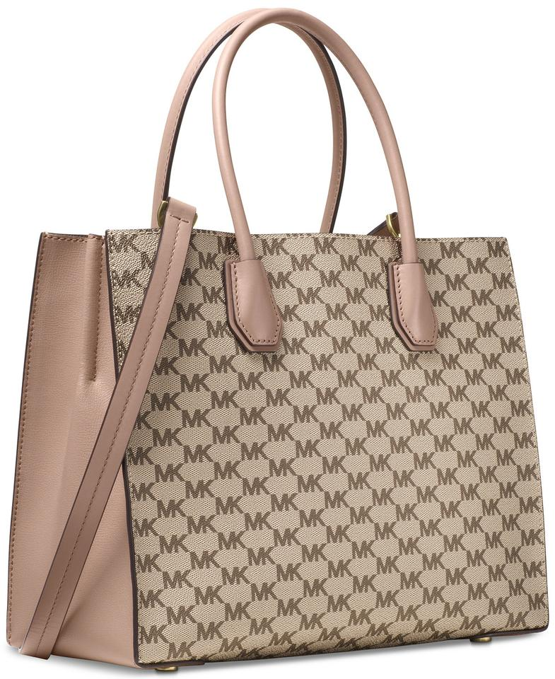 421b2270c980 Michael Kors Studio Mercer Large Convertible   Cherry Tote in Natural Fawn  Image 11. 123456789101112