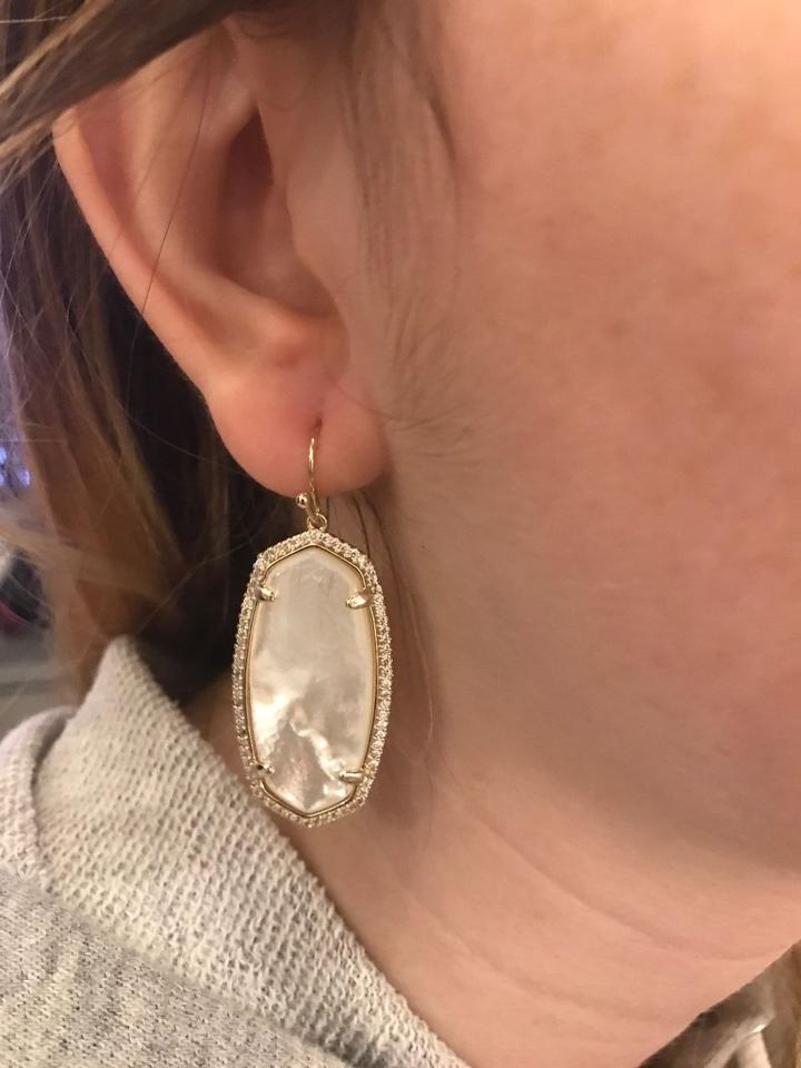 Kendra Scott Elle Pave Drop Earrings Mother Of Pearl 12345678910