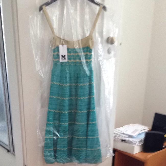 M Missoni short dress Green With Gold Trim Throughout on Tradesy
