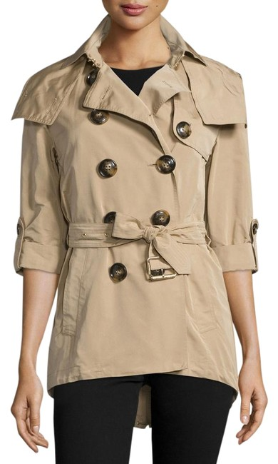 Item - Honey-beige Knightsdale Belted Drop Tall Hooded Coat Size 8 (M)