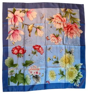 "Tiffany & Co. Tiffany & Co. Floral Silk Scarf 34"" x 34"""