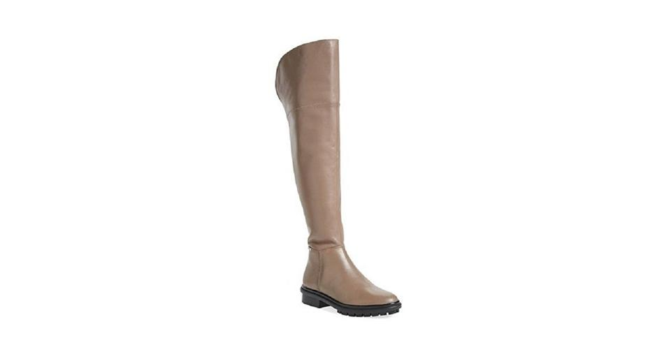 78e930cc51e Calvin Klein Taupe Helene Leather Over The Knee Boots/Booties Size US 7  Regular (M, B) 52% off retail