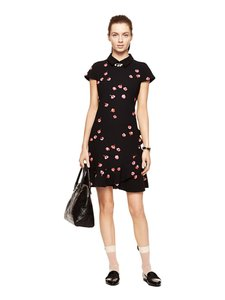 Kate Spade Lbd Fit And Flare Floral Dress