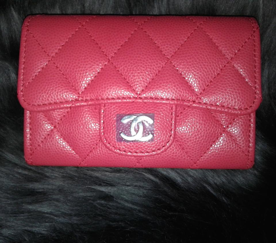 a18a7646d02e Chanel Card Holder Flap Bag Classic CC Logo Timeless Case Quilted Caviar  Pink Image 11. 123456789101112