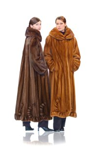 madisonavemall Real Fur Real Mink Womens Mink Womens Fur Scalloped Coat