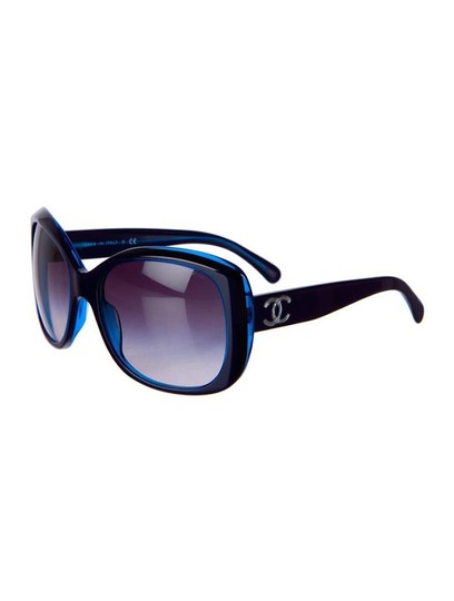 Chanel 5183 CC Logo BLUE Square Oversized Classic Timeless Non Polarized XL