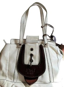 Dolce&Gabbana Leather Charm Tote in Ivory, Brown
