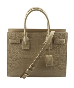 Yves Saint Laurent Crocodile Tote in Tan