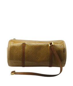 Louis Vuitton Patent Leather Satchel in Gold